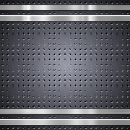 Metal mesh with brushed metal bars background or texture Stock Photo