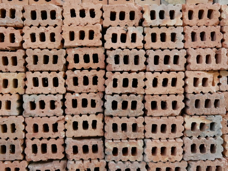 Clay bricks used in house construction