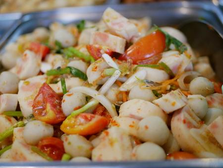 Thai spicy meatball salad ( Yam Look Chin ) Standard-Bild