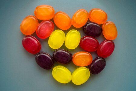 food sweet heart candy