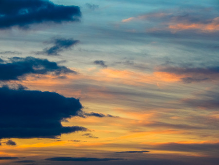 the appearance of the sky at sunset Stock Photo
