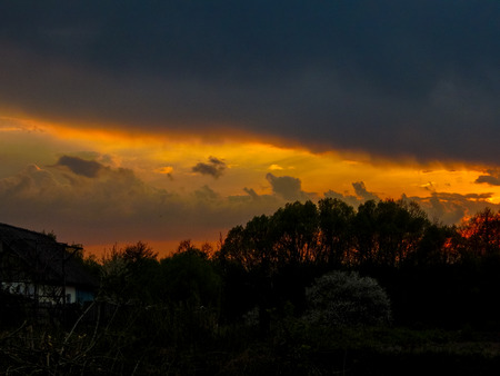 phenomena: natural phenomenon of the sunset Stock Photo