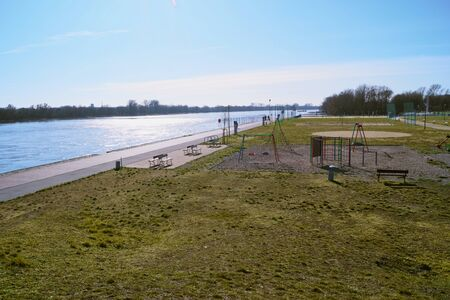 Cityscape of the Quay City in Poland Europe in spring