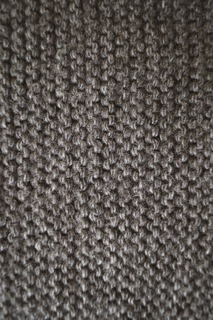 Gray background texture pattern pattern knitted fabric Clothing Macro Photo Banque d'images