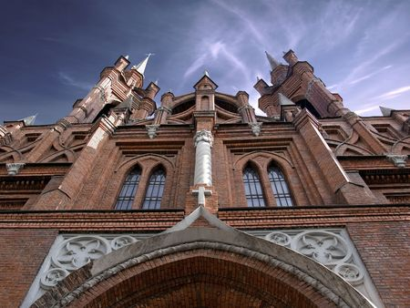 warrant: Gothic cathedral Stock Photo