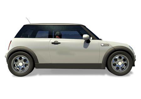 Compact little sports car on a white background. Zdjęcie Seryjne