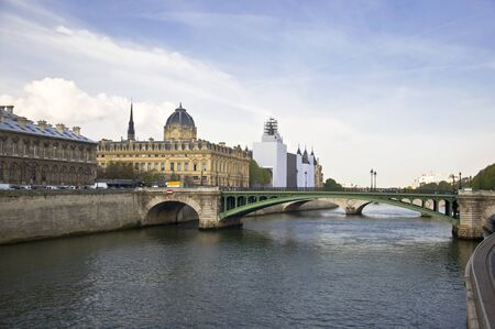Bridges of the River Seine. View of the embankment. Paris. France Stock Photo