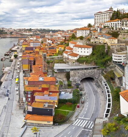 Panorama of Porto, Portugal  Evening time