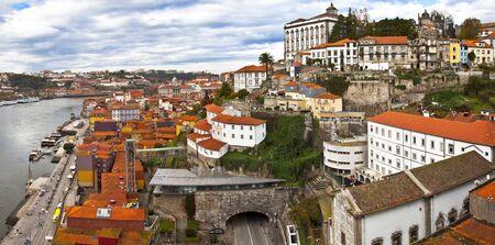 Panorama of Porto, Portugal  Evening time Zdjęcie Seryjne - 17597787
