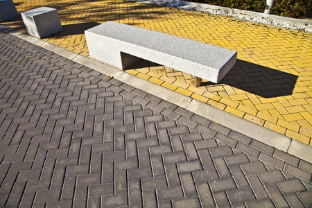 Urban landscape  Paving business areas of Madrid Stock Photo