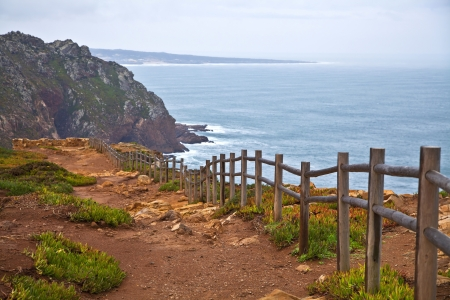 View of a cliff towards the sea at