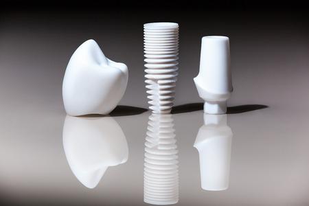 Models of dental, implants, dental dentist objects implants composition