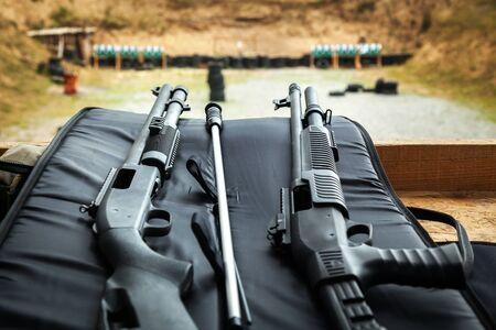 pistola: disparo Foto de archivo