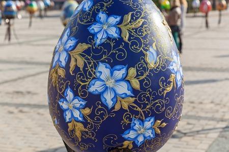 Kyiv Ukraine Sophia Square 2 Of May 2016 Big Painted Egg