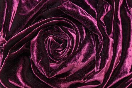 dcor: Vinous silk velvet. Vinous silk velvet fabric twisted in form of the rose.