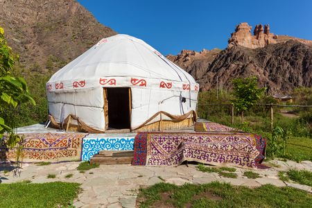Charyn Canyon eco camp, stay in yurts, travel to Kazakhstan, Yurt is the national dwelling of nomads