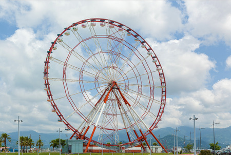 View of Ferris wheel on Batumi boulevard. Georgia Stock Photo