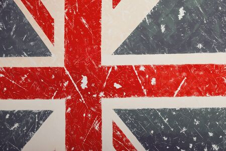 United Kingdom A flag with a vintage and old background can be used as a cover for wallpaper pamphlets or for a presentation background also there is room for copying text.Vintage wall texture background for design and artwork