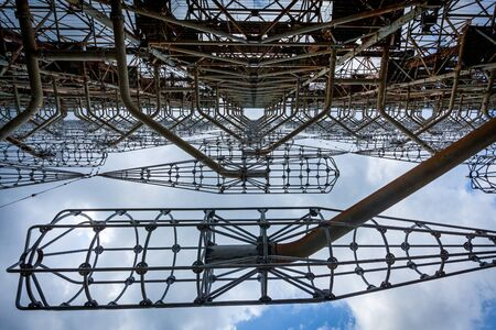 Former Duga military radar system in the Chernobyl Exclusion Zone, Ukraine