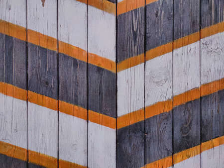Wood texture background with white, black, orange stripes for design
