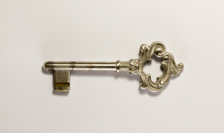 old furniture: Old furniture key. Bronze and steel.