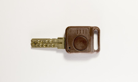 exceptional: Old furniture key. unusual and steel.