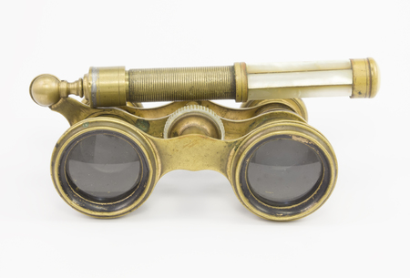 inserts: Natural vintage opera glasses with pearl inserts on a white background.