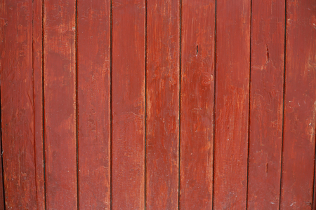 sheathing: painted the fence red