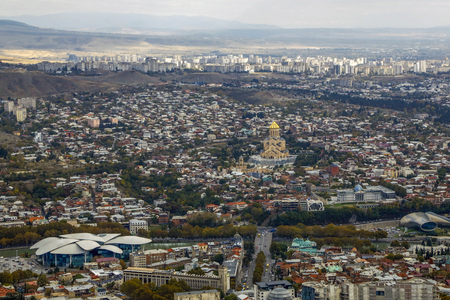 Panorama of Tbilisi, Georgia, aerial view. Standard-Bild
