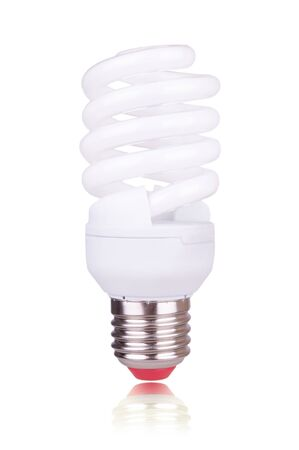 economical: economical bulb on the white background