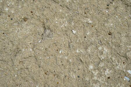 mud wall: surface of old mud wall texture closeup Stock Photo