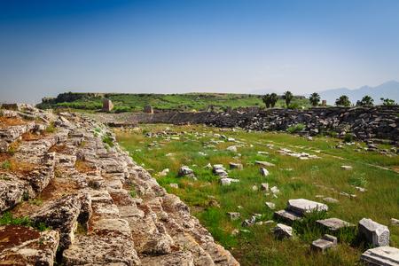 antik: Ruins of ancient city of Perge near Antalya Turkey Stock Photo