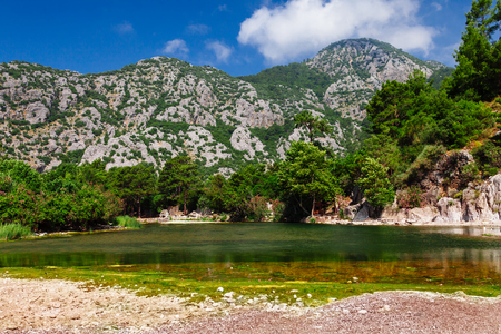 View on ancient greek and roman ancient city of Olympos near Antalya Turkey