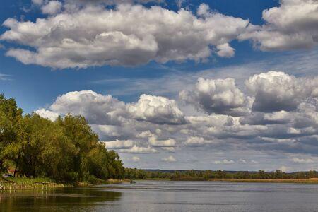 volga: Beautiful cloudy landscape on the Volga River
