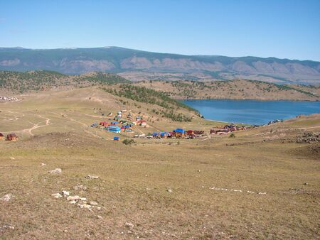 non urban: The Gulf Lake Baikal - a view from the mountain on the coast and the lake