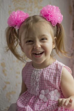 gaiety: Playful girl Stock Photo