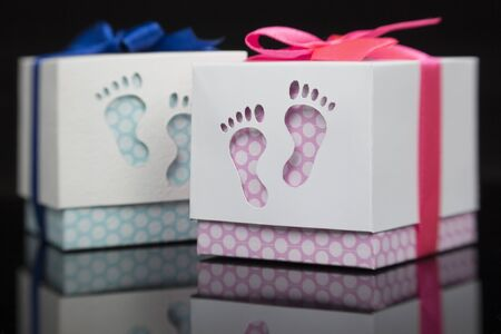 dekor: Two Gift box for the baby - handmade gift for kids girl and boy