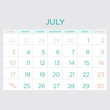 gamma: Calendar vector template 2016 in a green and grey gamma.