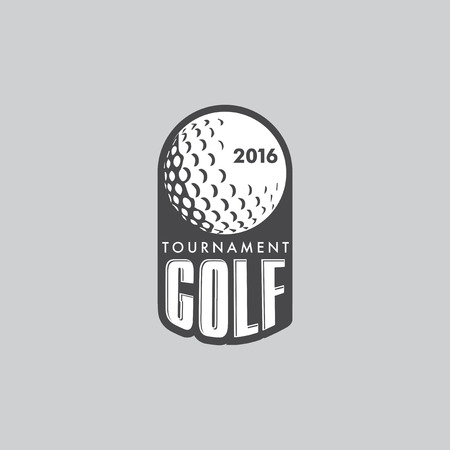 sports ball: Retro Vintage Hipster Golft Vector with a golf ball.