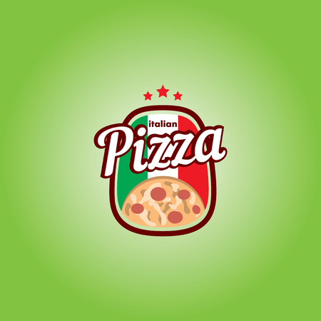 pizzeria: Pizzeria Vector Template with a pizza.