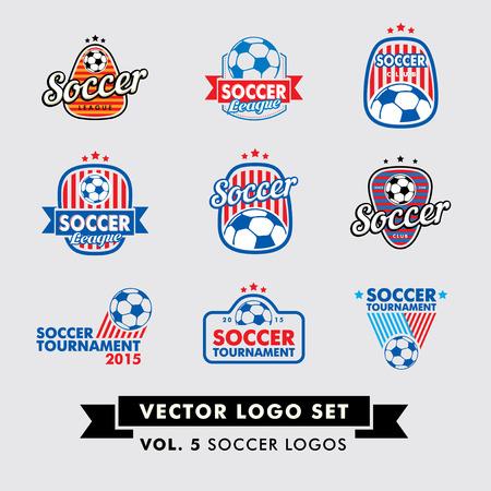 soccer balls: Soccer, Football Vector Logo Set with soccer (football) balls. Illustration