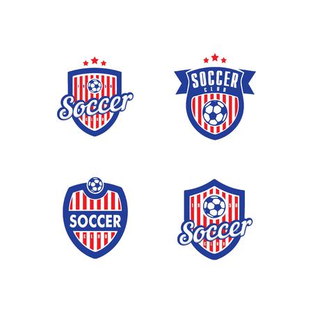 team sports: Logo vector para un partido de fútbol (fútbol) club de Vectores