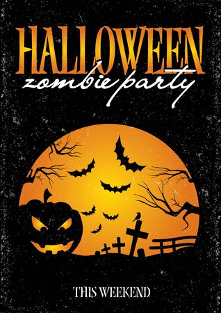holiday movies: Halloween vector invitation poster to party
