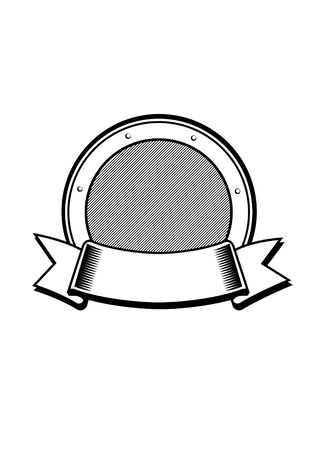 Coat of Arms Vector Template Element for a logo