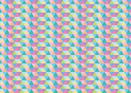 gamma: Triangle Vector Pattern in multicolor gamma