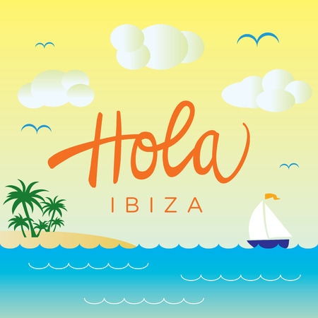 travel card: Spanish Sea Landscape Design for travel card