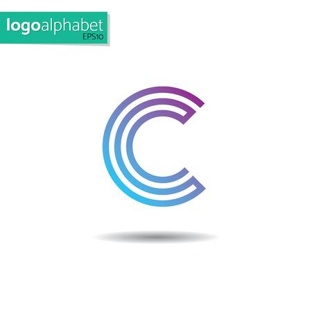 Modèle de vecteur lettre C pour l'utilisation sous forme de logo