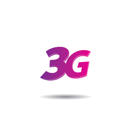 3g: Vector logo template for 3G internet services