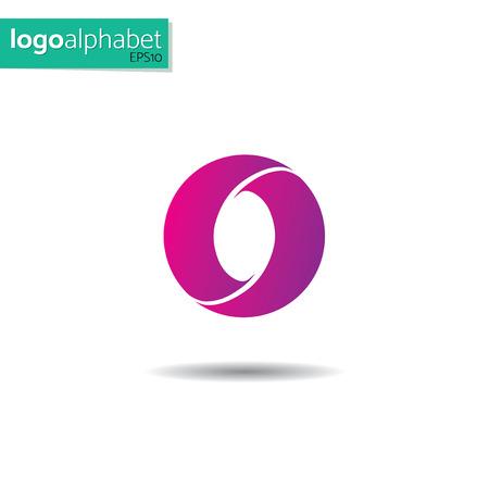 modèle de lettre O de vecteur pour l'utiliser comme logo