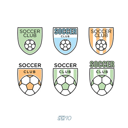 collegiate: Soccer, Football Club icon Template Set